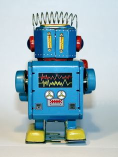 Robot with sprong-y hair