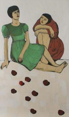 Girls and Apples by Ghadah Alkandari, Kuwaiti artist.