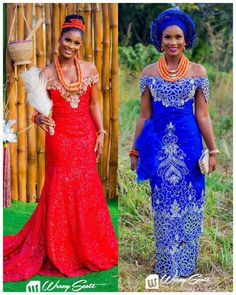 """13.9k Likes, 126 Comments - No.1 Nigerian Wedding Blog (@nigerianwedding) on Instagram: """"1 bride @ritianah_ 2 looks ❤️ Which is your favourite? Left or right? Red or blue? : @weezy_scott…"""""""
