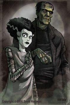 Horror Movies Fan Art - By David Hartman