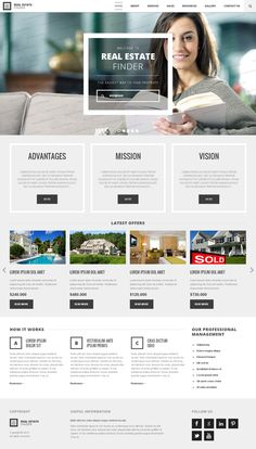 Real Estate HTML Template by Dynamic Template, via Behance