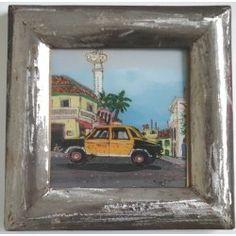 """Peinture sous-verre """"Taxi"""""""