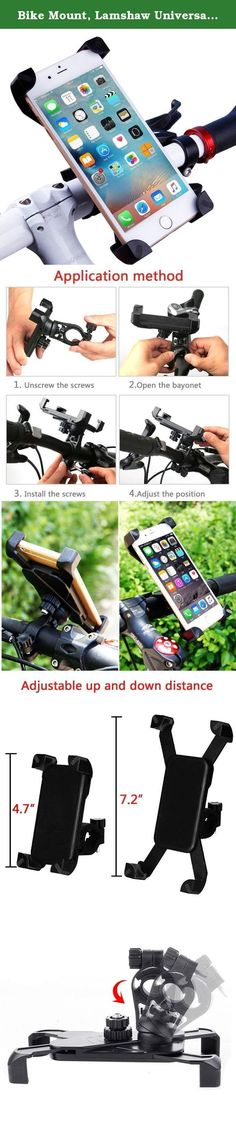 Bike Mount, Lamshaw Universal Cell Phone Bicycle Holder Motorcycle Holder Cradle Clamp for iOS Android Smartphone GPS other Devices. Sturdy Base- Through solid, high-quality workmanship way, make from PVC material. Sponge-filled contact surfaces to prevent your phone off, more stable and secure. Support 360 degree Rotation- Fully adjustable with 360 degree rotation for viewing your device at the most conducive angle. Can normally work, between -30 ° C--50° C. Convenient- Buckle structure…