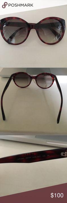 Prada Sunglasses SPR 230 Prada Sunglasses with pinkish tortoiseshell. Great conditions. Prada Accessories Sunglasses