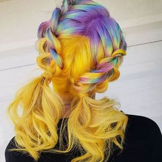 coolest hairs color trends in trendy hairstyles … ombre yellow hair colors; coolest hairs color trends in trendy hairstyles and colors women hair colors; Yellow Hair Color, Hair Dye Colors, Ombre Hair Color, Purple Hair, Grey Hair, Beautiful Hair Color, Cool Hair Color, Hair Color For Women, Dye My Hair