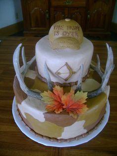 "Groom's ""hunting"" cake"