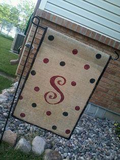 Burlap Garden Flag by ShabbyChicB on Etsy, $15.00