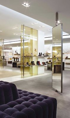 Barneys New York Retail by Yabu Pushelberg | retail design | room dividers | glass | shelving