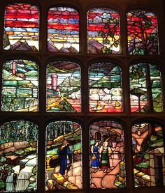 Window at #cottontogold Stained Glass Windows, Figurative, Food, Stained Glass, Meals, Yemek, Stained Glass Panels, Eten