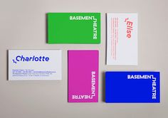 Basement Theatre identity design