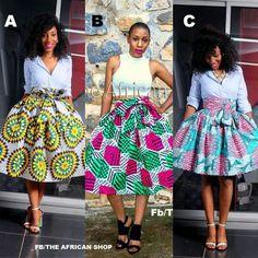 37b67d54f Nice African Print Skirt, African Print Dresses, African Fabric, African  Dress, African