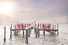 Destin Bay House, Florida Wedding, Destin, FL Wedding, Wedding Party, Beach Wedding, Bay Wedding, Pier Shot
