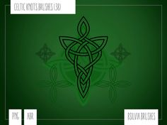 Celtic Knots: Photoshop brushes and transparent PNG by bsilvia #graphic #digital scrapbooking #photoshop