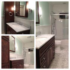 Bathroom remodel complete! Love!