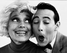 Carol Channing & Pee Wee Herman, photographed by Herb Ritts. Wonderful.