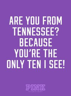 Why yes, I am a Tennessee girl! Born and raised! - Hubs says this to me about once a week.  Lol.