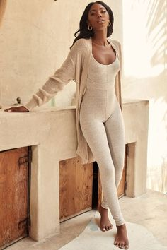 Clothing : Jumpsuits : 'Zinnia' Stone Marl Waist Cinching Jumpsuit - Clothing : Jumpsuits : 'Zinnia' Stone Marl Waist Cinching Jumpsuit Source by yveejen - Outfits Casual, Mode Outfits, Fashion Outfits, Womens Fashion, Cute Lounge Outfits, Lazy Outfits, School Outfits, Winter Outfits, Fashion Tips