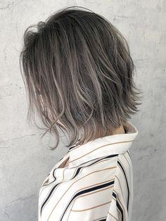 Short Grey Hair, Short Hair Styles, Ash Brown Hair Color, Hair Arrange, Beautiful Hair Color, Going Gray, Balayage Hair, Hair Inspo, Cute Hairstyles