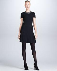 Marguerite+Beaded-Neck+Dress%2C+Black+by+Ralph+Lauren+Black+Label+at+Bergdorf+Goodman.