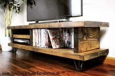 - TV Unit Models & Ideas - Rustic Blissford Widescreen Tv Unit Rustic Blissford tv unit handcrafted by dedicated craftsmen in the heart of the Few Forest. Picture represents a Dark Oak Finnish. Tv Unit Furniture, Wood Furniture Living Room, Solid Wood Furniture, Rustic Furniture, Furniture Nyc, Furniture Websites, Furniture Design, Rustic Tv Unit, Wood Tv Unit