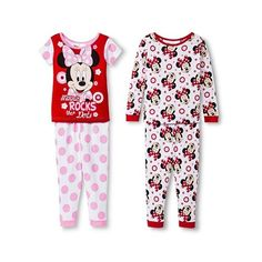 Disney Minnie Mouse Toddler Girls' 4-Piece Pajama Set (€15) ❤ liked on Polyvore featuring dot, girls, kids and polka dot