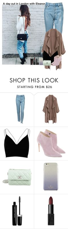 """""""A day out in London with Eleanor"""" by almog-fashion ❤ liked on Polyvore featuring Vetements, River Island, Ralph Lauren, Chanel, Kate Spade, Marc Jacobs and NARS Cosmetics"""