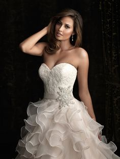 Gorgeous Wedding Dress by Allure Bridal Gowns 8 for Last Modified on Describe Gorgeous Wedding Dress by Allure Bridal Gowns 8 i Formal Dresses For Weddings, White Wedding Dresses, Bridal Wedding Dresses, Wedding Dress Styles, Bridal Style, Wedding Bells, Unique Weddings, Boho Wedding Gown, Gorgeous Wedding Dress