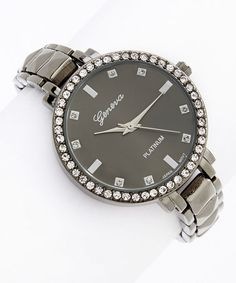 Loving this Gunmetal Pyramid Stud Bracelet Watch on #zulily! #zulilyfinds