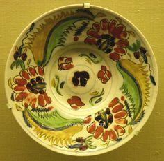 Kutahya Plate 18th Pera Museum Turkish Tiles, Turkish Art, Ceramic Pottery, Ceramic Art, Glazed Tiles, Antique Plates, Paper Clay, Istanbul Turkey, 18th