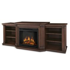 Real Flame Valmont TV Stand with Electric Fireplace & Reviews   Wayfair