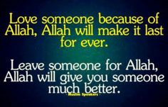 I love my Husband for the sake of Allah swt