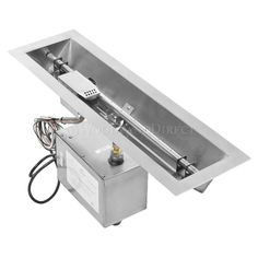 Linear Trough Gas Fire Pit Insert - 24""