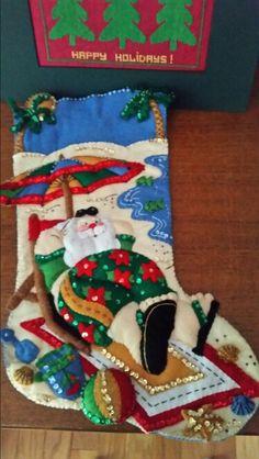 Santa at the beach stocking