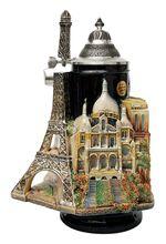 Paris France 3D Beer Stein. Source: http://www.germansteins.com/paris-france-3d-beer-stein/