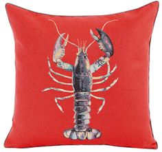 lobster pillow for beach themed room