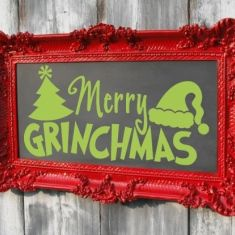 Merry Grinchmas - I still would put Christmas  and another grinch reference