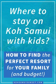 Where to stay on Koh Samui with kids? How to find the perfect family-friendly resort for your family (and budget!), including the best boutique, beach-front and high-end resorts perfect for enjoying Koh Samui with kids. Find Koh Samui's hotels with the best beaches for kids, the best rooms for families, child policies, kids' pool and kids' clubs and what to expect on the children's menu. Discover Koh Samui's best family resorts in this comprehensive, island-wide hotel guide. Click through to…