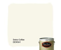 Dunn-Edwards Paints white paint color: Swiss Coffee DEW341 | Click for a free color sample
