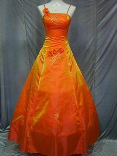 fabulous color! (but surely not the 'orange wedding dress' of the description)