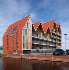 Жилой комплекс Vosseborg Unusual Buildings, Small Buildings, Modern Buildings, Museum Architecture, Architecture Student, Beautiful Architecture, Modern Architecture, Brick Construction, Mix Use Building