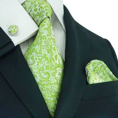 Men floral necktie adds liveliness to your everyday apparels and you can buy these fashion accessories from wholesale providers to get them at affordable prices. Groomsmen Ties, Polka Dot Tie, Mens Silk Ties, Green Tie, Wedding Ties, Tie Set, Well Dressed Men, Floral Tie, Paisley
