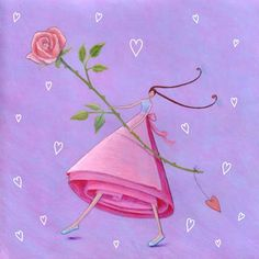 Square card folded by Mila Marquis by MarquisWonderland on Etsy Creative Pictures, Art Pictures, Marie Cardouat, Mike Mitchell, Marquis, Dibujos Cute, Sweet Pic, Square Card, Whimsical Art