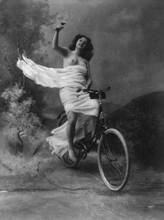 Vintage Bicycle Print, Lady on a Bike with Glass of Wine - 1897 - 8.5x11, 5x7, or 4x6 inches
