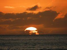 Tropical sunset at Paradise Cove Luau