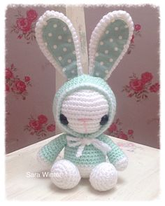A personal favourite from my Etsy shop https://www.etsy.com/uk/listing/497824176/amigurumi-crochet-bunny-rabbit-wearing