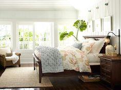 master bedding ideas + board/batten ~ Bedroom Design Inspiration & Bedroom Décor Inspiration | Pottery Barn