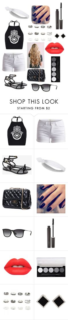 """""""!?"""" by mfgsoccer ❤ liked on Polyvore featuring Boohoo, Pieces, Ted Baker, Topshop, Lottie, Ray-Ban, Laura Mercier, Lime Crime, L.A. Colors and Retrò"""