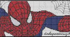 Resultado de imagem para grafico em ponto cruz homem aranha