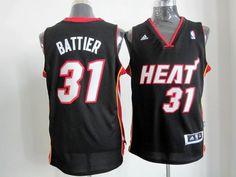 Adidas NBA Miami Heat 31 Shane Battier New Revolution 30 Swingman Road Black Jersey