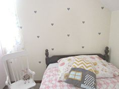White walls and Heart Wall Decals